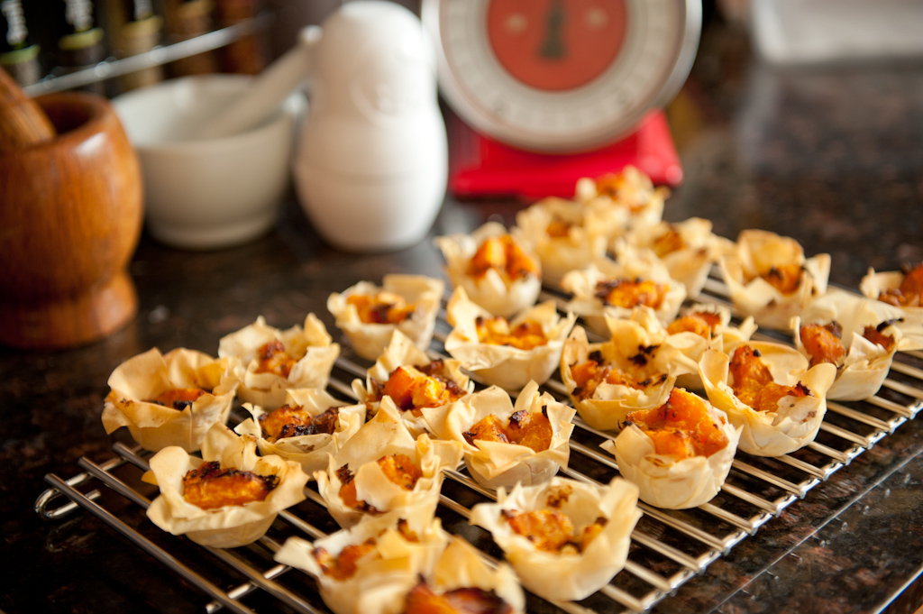 Pumpkin and Feta Mini-Tarts | Fizzle out