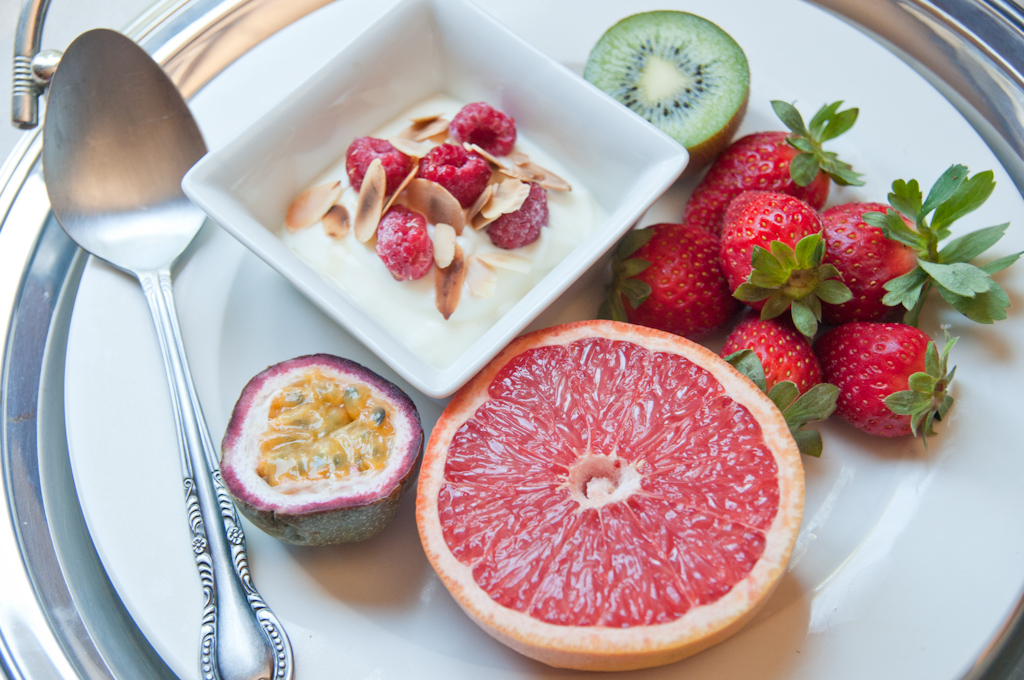 Breakfast Fruit Platter With Natural Yoghurt Fizzle Out